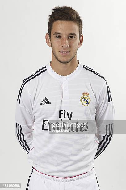 Alvaro Medran of Real Madrid Castilla poses during a portrait session at Ciudad Real Madrid on January 8 2015 in Madrid Spain