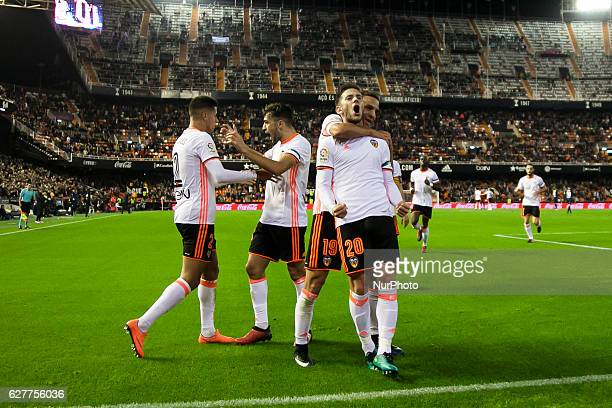 20 Alvaro Medran of Valencia CF during the Spanish La Liga Santander soccer match between Valencia CF vs Malaga CF at Mestalla Stadium on December 4...