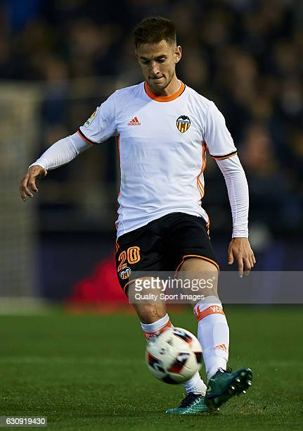 Alvaro Medran of Valencia in action during the Copa del Rey round of 16 first leg match between Valencia CF and Celta de Vigo at Estadi de Mestalla...