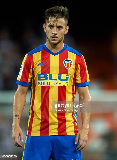 Alvaro Medran of Valencia looks on during the preseason friendly match between Valencia CF and Atalanta BC at Estadio Mestalla on August 11 2017 in...
