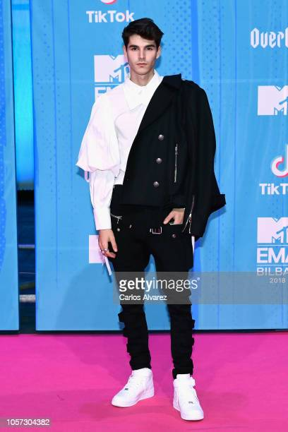 Alvaro Mel attends the MTV EMAs 2018 at Bilbao Exhibition Centre on November 4 2018 in Bilbao Spain