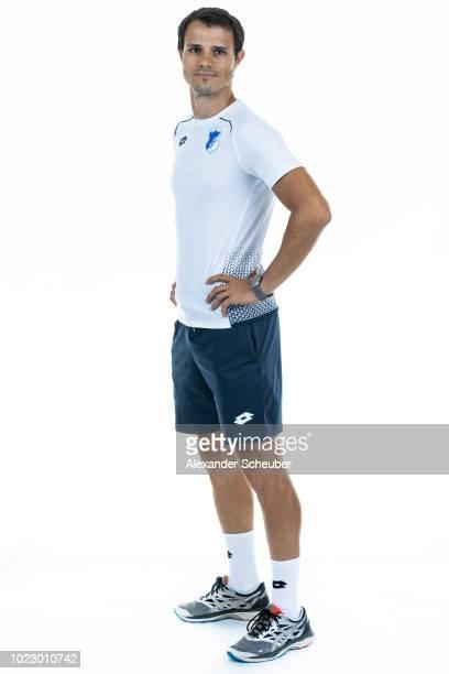 Alvaro Molinos of Hoffenheim poses during the TSG Hoffenhheim Women's team presentation on AUGUST 23 2018 in St LeonRot Germany
