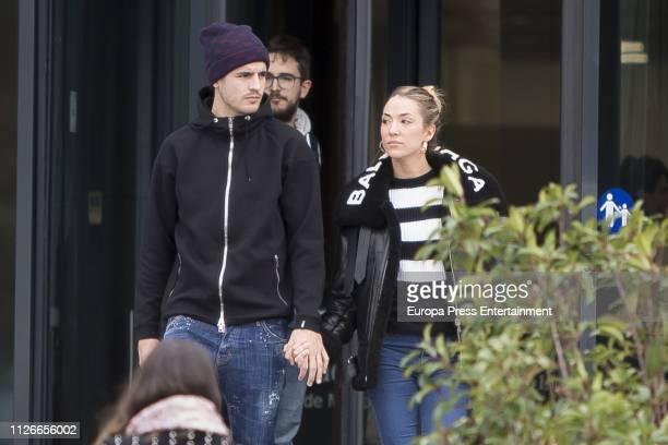 Alvaro Morata and Alice Campello are seen on January 31 2019 in Madrid Spain