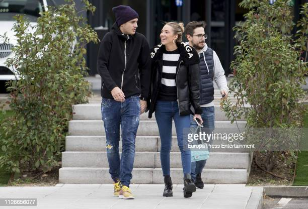 Alvaro Morata and Alice Campello are seen on January 31 2019 in Madrid Spain