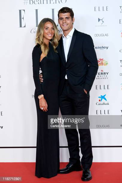 Alvaro Morata and Alice Campello attend ELLE Charity Gala 2019 to raise funds for cancer at Intercontinental Hotel on May 30 2019 in Madrid Spain