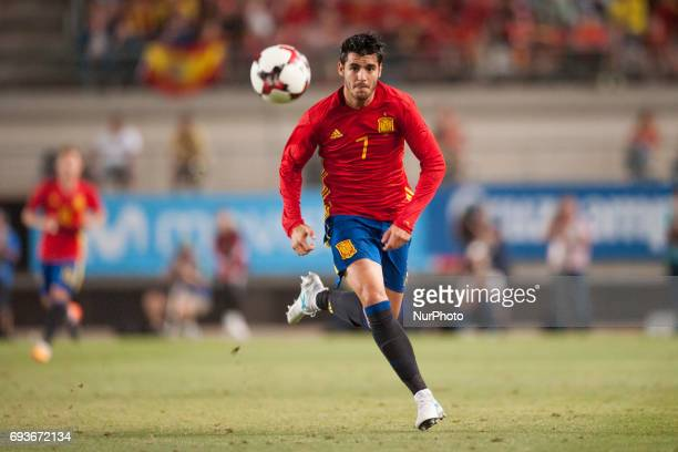 Alvaro Morata during a friendly match between national team of Spain vs Colombia in Nueva Condomina Stadium Murcia SpainWednesday June 7 2017