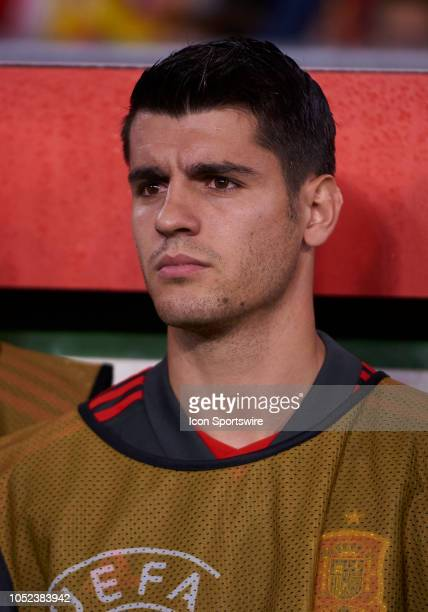 Alvaro Morata forward of Spain looks before the UEFA Nations League A Group four match between Spain and England on October 15 at Benito Villamarin...