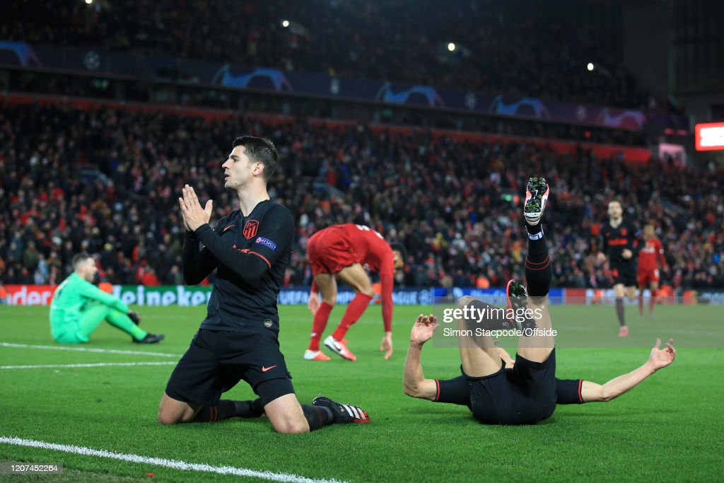 Liverpool FC v Atletico Madrid - UEFA Champions League Round of 16: Second Leg : News Photo