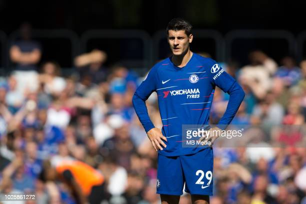 Alvaro Morata of Chelsea during the Premier League match between Chelsea FC and AFC Bournemouth at Stamford Bridge on September 1 2018 in London...