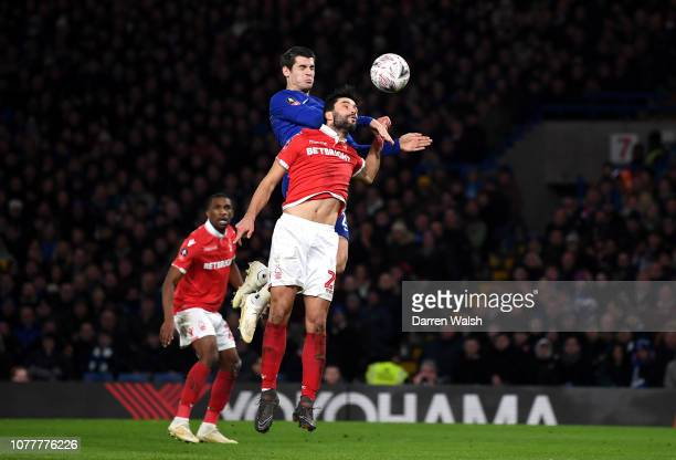 Alvaro Morata of Chelsea scores his team's second goal during the FA Cup Third Round match between Chelsea and Nottingham Forest at Stamford Bridge...