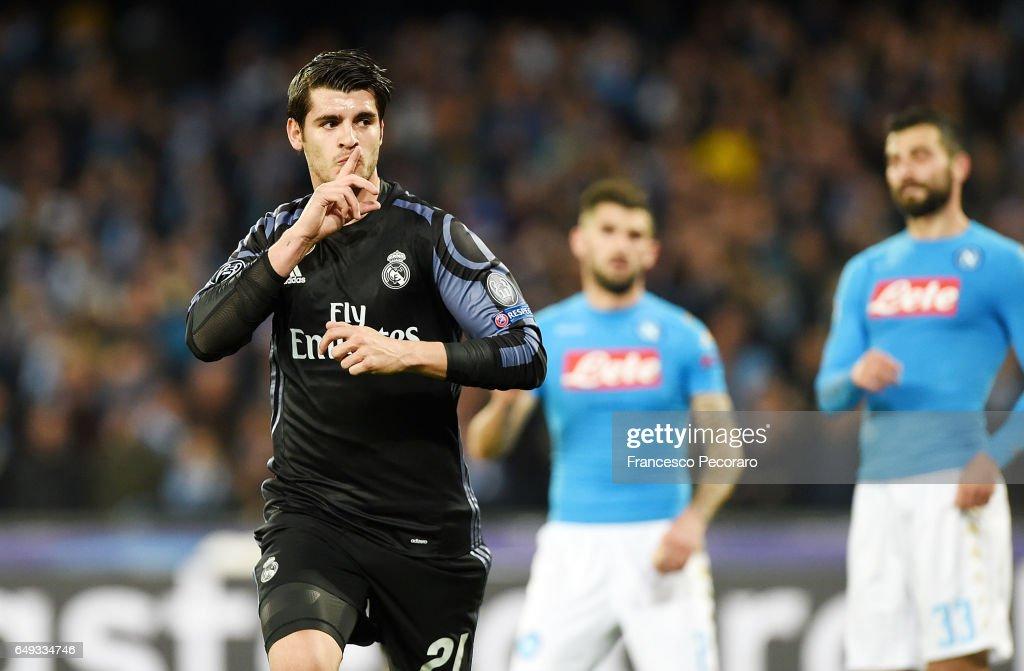SSC Napoli v Real Madrid CF - UEFA Champions League Round of 16: Second Leg : News Photo