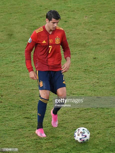 Alvaro Morata of Spain during the match between Spain and Sweden of Euro 2020, group E, matchday 1, played at La Cartuja Stadium on June 14, 2021 in...