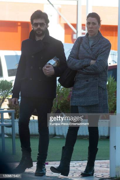 Alvaro Morte and Blanca Clemente are seen on February 03 2020 in Madrid Spain