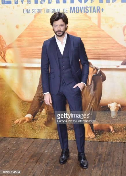 Alvaro Morte attend the 'El embarcadero' photocall at Callao Cinema on January 17 2019 in Madrid Spain
