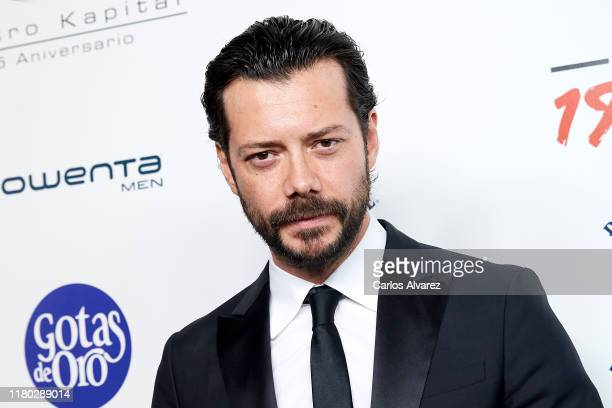Alvaro Morte attends 'Hombres Esquire' 2019 awards at the Kapital Club on October 10 2019 in Madrid Spain