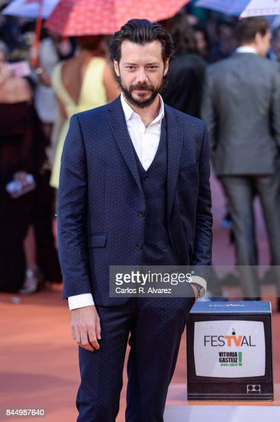 Alvaro Morte attends red carpet closing day during FesTVal 2017 on September 9 2017 in VitoriaGasteiz Spain