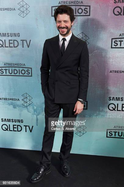 Alvaro Morte attends the Atresmedia Studios photocall at the Barcelo Theater on March 13 2018 in Madrid Spain