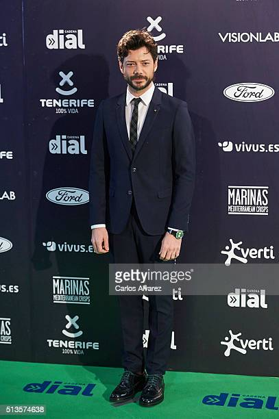 Alvaro Morte attends the Cadena Dial 2015 awards at the Recinto Ferial on March 3 2016 in Tenerife Spain