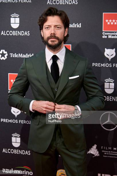 Alvaro Morte attends the 'FEROZ' awards 2020 Red Carpet photocall at Teatro Auditorio Ciudad de Alcobendas in Madrid Spain on Jan 16 2020