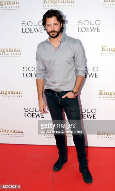 Alvaro Morte attends the 'Kingsman El Circulo De Oro' premiere at Callao cinema on September 19 2017 in Madrid Spain