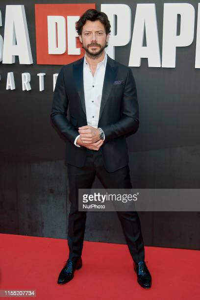 Alvaro Morte attends the 'La Casa de Papel' 3rd season premiere at Callao Cinema in Madrid Spain on Jul 11 2019