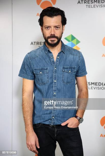 Alvaro Morte attends the presentation of the tv serie 'La Casa de papel' on October 4 2017 in Madrid Spain