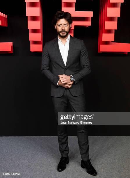 Alvaro Morte attends the red carpet during the Netflix presentation party at the Invernadero del Palacio de Cristal de la Arganzuela on April 4 2019...