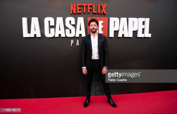 Alvaro Morte attends the red carpet of 'La Casa De Papel' 3rd Season by Netflix on July 11 2019 in Madrid Spain