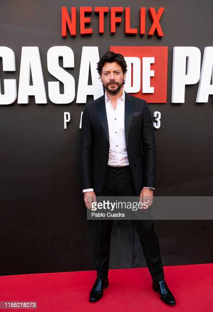 Alvaro Morte attends the red carpet of 'La Casa De Papel' 3rd Season by Netflix on July 11 2019 in Madrid Spain