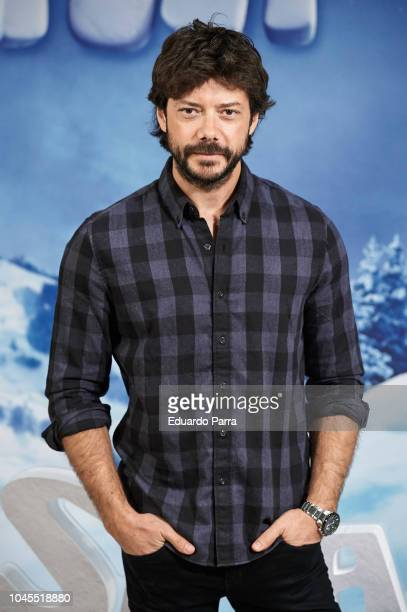 Alvaro Morte attends the 'Small Foot' photocall at Urso hotel on October 4 2018 in Madrid Spain