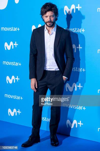 Alvaro Morte attends to blue carpet of presentation of new schedule of Movistar at Queen Sofia Museum in Madrid Spain on September 11 2018