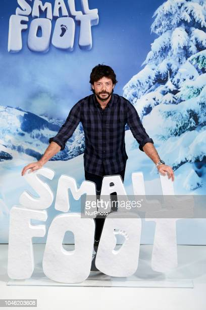 Alvaro Morte attends to 'Small Foot' photocall at Urso Hotel in Madrid Spain on October 5 2018