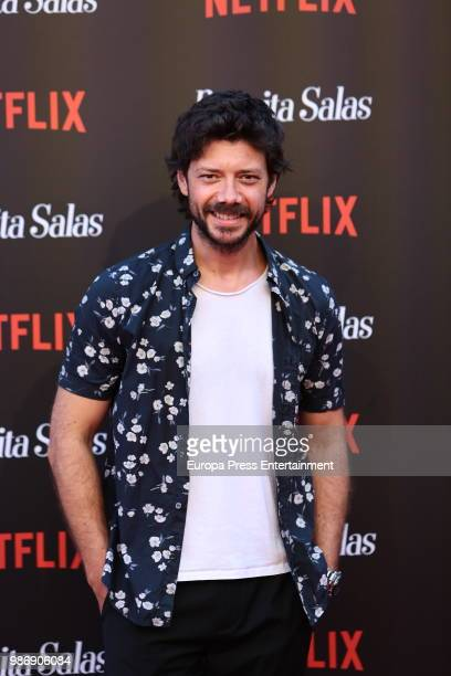 Alvaro Morte attends World Premiere of Netflix's Paquita Salas Season 2 on June 28 2018 in Madrid Spain