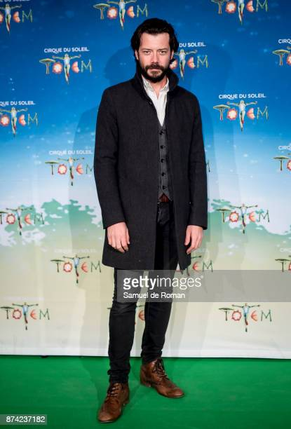 Alvaro Morte during 'Cirque Du Soleil' Premiere in Madrid on November 14 2017 in Madrid Spain