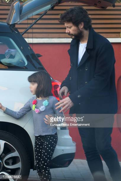 Alvaro Morte is seen on February 03 2020 in Madrid Spain
