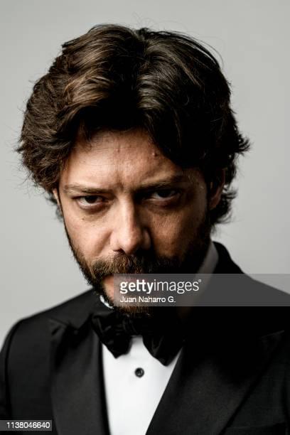 Alvaro Morte poses for a portrait session at Teatro Cervantes during 22nd Spanish Film Festival of Malaga on March 23 2019 in Malaga Spain