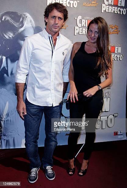 Alvaro Munoz Escassi and girlfriend attend the Crimen Perfecto premiere photocall at Reina Victoria theatre on September 14 2011 in Madrid Spain