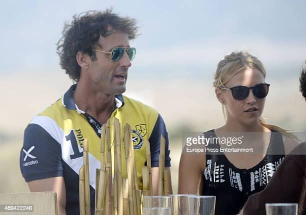 Alvaro Munoz Escassi and his daughter Anna Barrachina attend II Polo Playa Tournament on September 20 2015 in Tarifa Spain