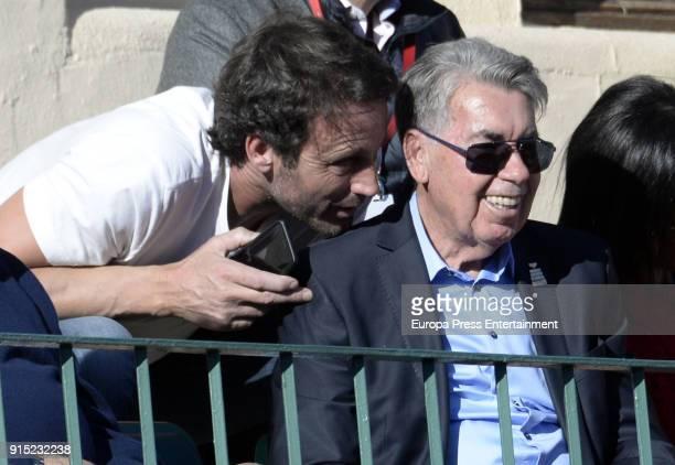 Alvaro Munoz Escassi and Manolo Santana attend Davis Cup on February 4 2018 in Marbella Spain