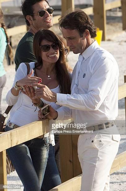 Alvaro Munoz Escassi and Sonia Ferrer are seen on November 1 2014 in Mijas Spain
