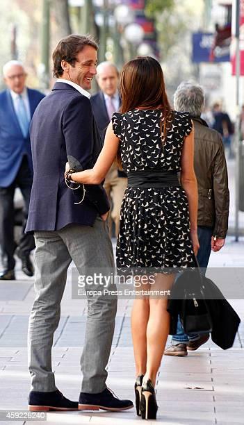 Alvaro Munoz Escassi and Sonia Ferrer are seen on October 27 2014 in Madrid Spain