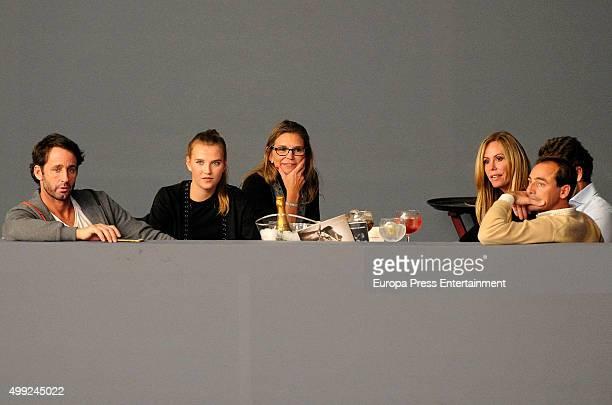 Alvaro Munoz Escassi Anna Barrachina and Lara Dibildos are seen at Madrid Horse Week 2015 on November 27 2015 in Madrid Spain
