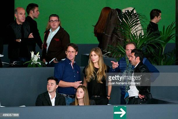 Alvaro Munoz Escassi Helen Svedin and Luis Figo are seen at Madrid Horse Week on November 28 2015 in Madrid Spain