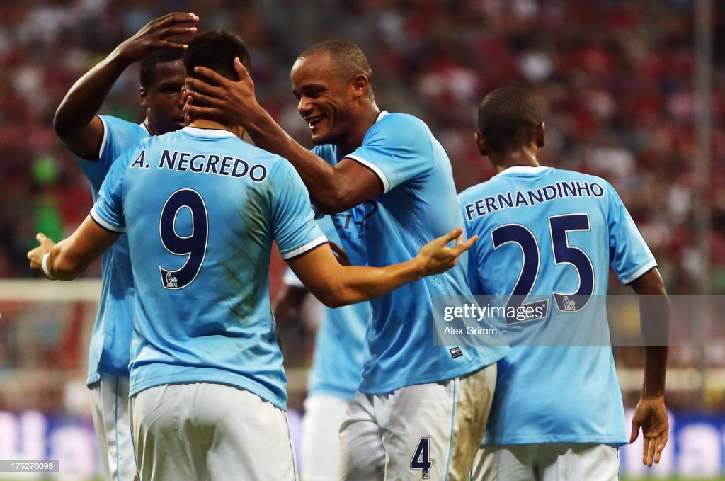 FC Bayern Muenchen v Manchester City - Audi Cup 2013 Final : News Photo