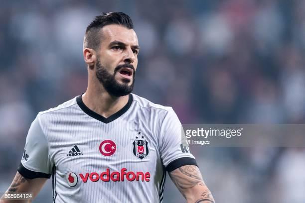 Alvaro Negredo Sanchez of Besiktas JK during the Turkish Spor Toto Super Lig football match between Besiktas JK and Medipol Basaksehir FK on October...