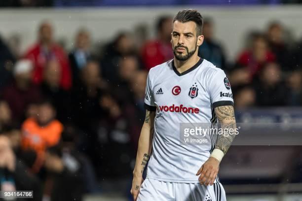 Alvaro Negredo Sanchez of Besiktas JK during the Turkish Spor Toto Super Lig match between Medipol Basakseshir FK and Besiktas AS at the Basaksehir...