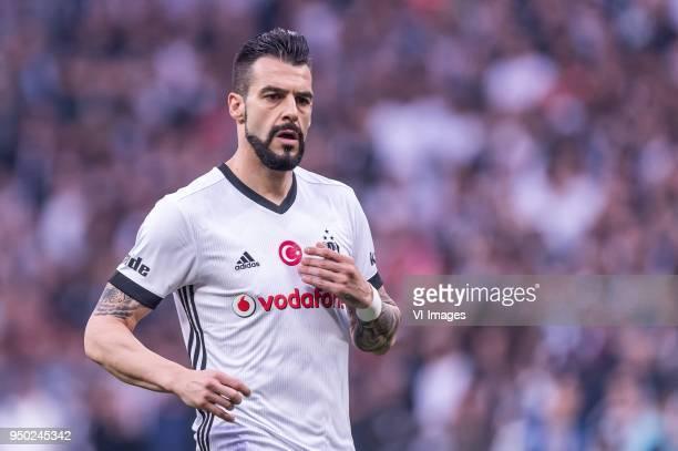 Alvaro Negredo Sanchez of Besiktas JK during the Turkish Spor Toto Super Lig football match between Besiktas JK and Evkur Yeni Malatyaspor on April...
