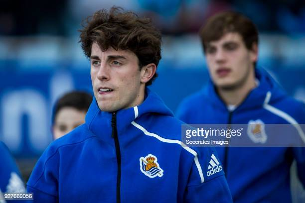 Alvaro Odriozola Arzallus of Real Sociedad during the match between Real Sociedad v Deportivo Alaves at the Estadio Anoeta on March 4 2018 in San...