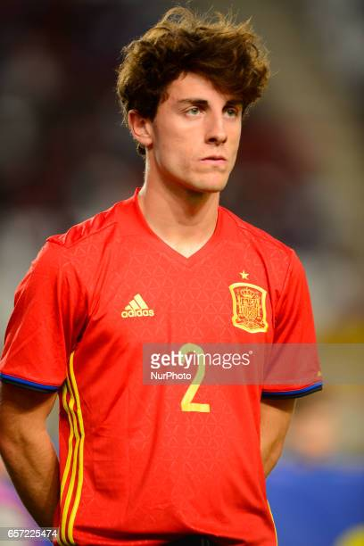 Alvaro Odriozola during the friendly match of national teams U21 of Spain vs Denmark in stadium Nueva Condomina Murcia SPAIN March 23rd 2017