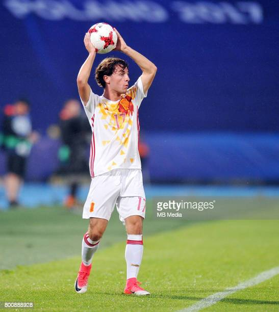 Alvaro Odriozola during the UEFA European Under21 match between Serbia and Spain at Arena Bydgoszcz on June 23 2017 in Bydgoszcz Poland